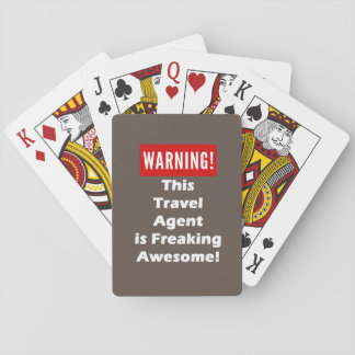 This Travel Agent is Freaking Awesome! Poker Deck