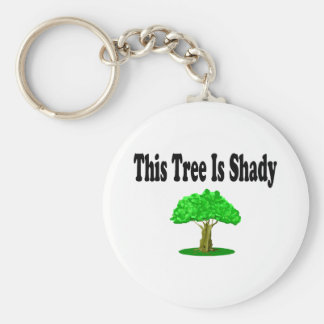 This Tree Is Shady Basic Round Button Keychain