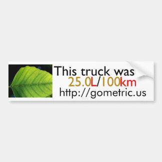 This truck wastes 25.0L/100km Bumper Sticker
