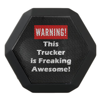 This Trucker is Freaking Awesome! Black Bluetooth Speaker