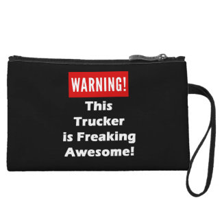 This Trucker is Freaking Awesome! Wristlet Wallet