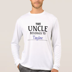 Men's Sport-Tek Competitor L/S T-shirt with Customizable Uncle Belongs To... design