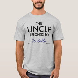 Men's Basic T-Shirt with Customizable Uncle Belongs To... design