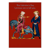 This Valentine's Day I promise not to kill you. Card