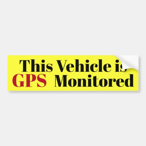 This Vehicle is GPS Monitored sticker