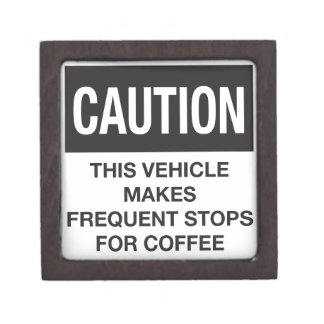 This Vehicle Makes Frequent Stops For Coffee Premium Gift Boxes