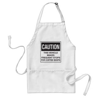 This Vehicle Makes Frequent Stops For Coffee Shops Adult Apron