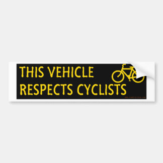 This Vehicle Respects Cyclists bumper sticker