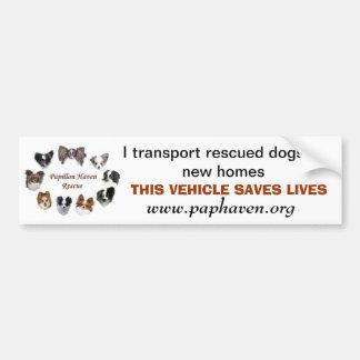 THIS VEHICLE SAVES LIVES CAR BUMPER STICKER