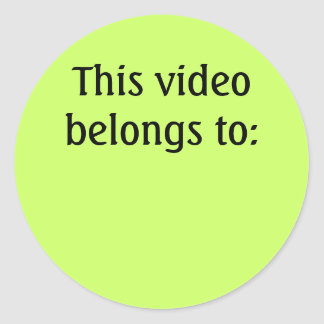 This video belongs to: classic round sticker