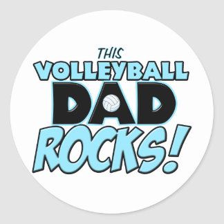 This Volleyball Dad Rocks copy.png Classic Round Sticker