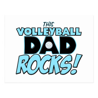 This Volleyball Dad Rocks copy.png Postcard