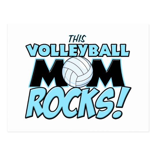 This Volleyball Mom Rocks.png Postcard