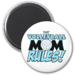 This Volleyball Mom Rules.png 2 Inch Round Magnet