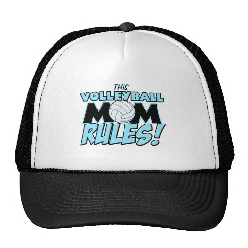 This Volleyball Mom Rules.png Trucker Hat