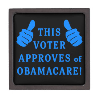 THIS VOTER Approves of Obamacare Premium Keepsake Boxes