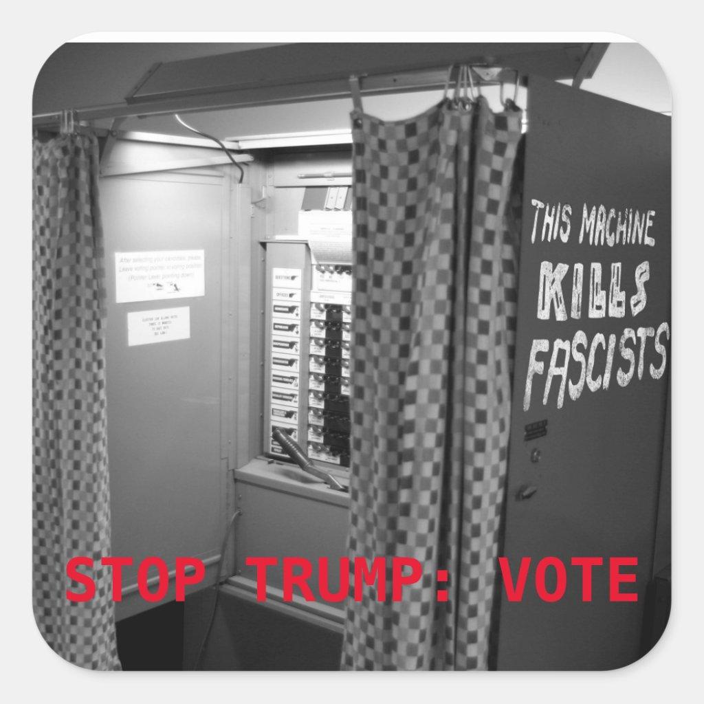 This [Voting] Machine Kills Fascists Sticker (Sq.)
