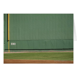 This wall is known as 'the Green Monster.'Foul Card