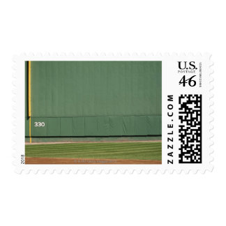 This wall is known as the Green Monster Foul Postage Stamp