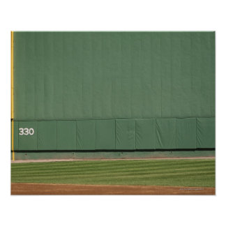 This wall is known as 'the Green Monster.'Foul Poster