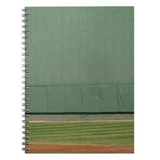 This wall is known as 'the Green Monster.'Foul Spiral Notebook