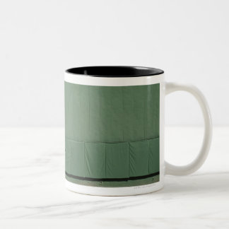 This wall is known as 'the Green Monster.'Foul Two-Tone Coffee Mug