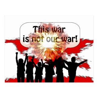 This War is Not Our War Postcard