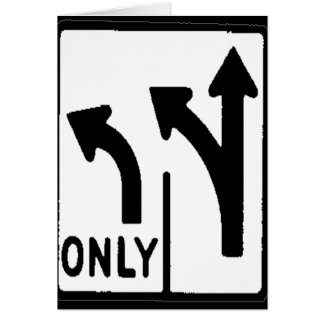 THIS WAY ONLY GREETING CARD