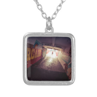 This Way to Boardwalk Square Pendant Necklace
