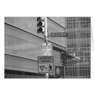 This way to Broadway Card