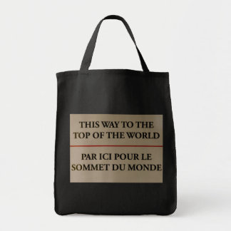 This Way To The Top Of The World Canvas Bags