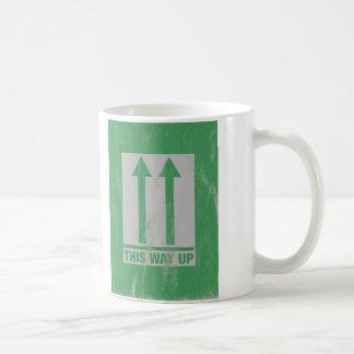 This way up sign coffee mug