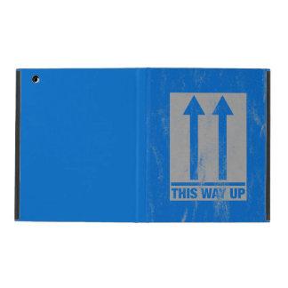 This way up sign iPad folio cases