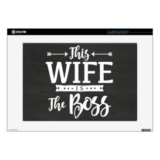 This Wife Is The Boss Laptop Decal