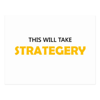 This Will Take Strategery 1OB Postcard