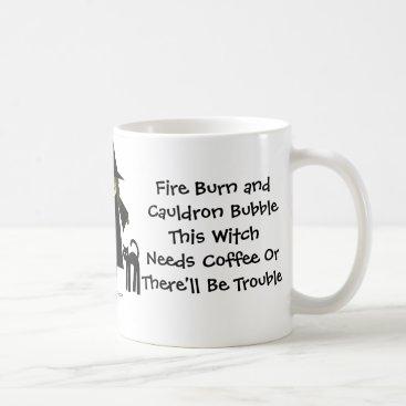 Halloween Themed This Witch Needs Coffee! Coffee-addicts Cup/Mug Coffee Mug