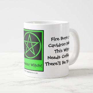 This Witch Needs Coffee JUMBO pagan wiccan mug cup 20 Oz Large Ceramic Coffee Mug