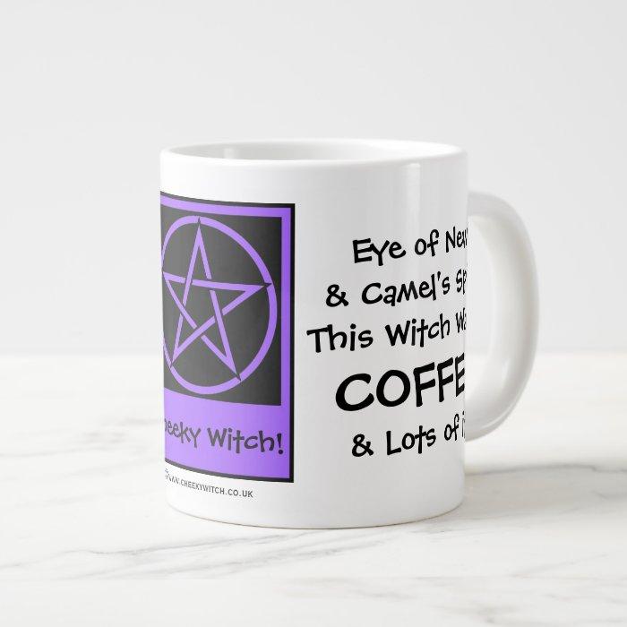 This Witch Wants Coffee JUMBO pagan wiccan mug cup