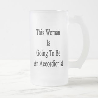 This Woman Is Going To Be An Accordionist Glass Beer Mug