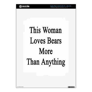 This Woman Loves Bears More Than Anything iPad 3 Skin