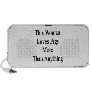 This Woman Loves Pigs More Than Anything Portable Speakers