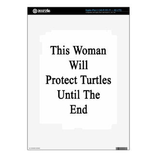 This Woman Will Protect Turtles Until The End Skins For iPad 3