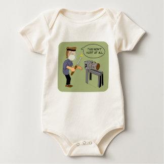 This Won't Hurt Funny Woodturning Cartoon Baby Bodysuit