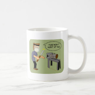 This Won't Hurt Funny Woodturning Cartoon Coffee Mug