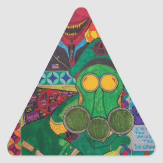 This World And What Is Between Triangle Sticker
