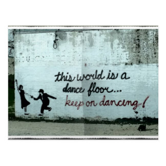 This world is a Dance Floor Postcard