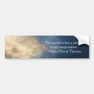 This world is but a canvas to our imagination bumper sticker