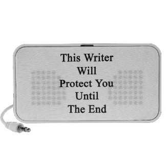 This Writer Will Protect You Until The End iPod Speakers