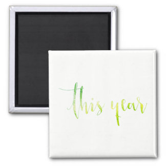 This Year Green White Priority Planner Home Office Magnet