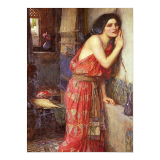Thisbe by John William Waterhouse 5.5x7.5 Paper Invitation Card